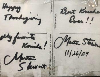 autograph martha stewart